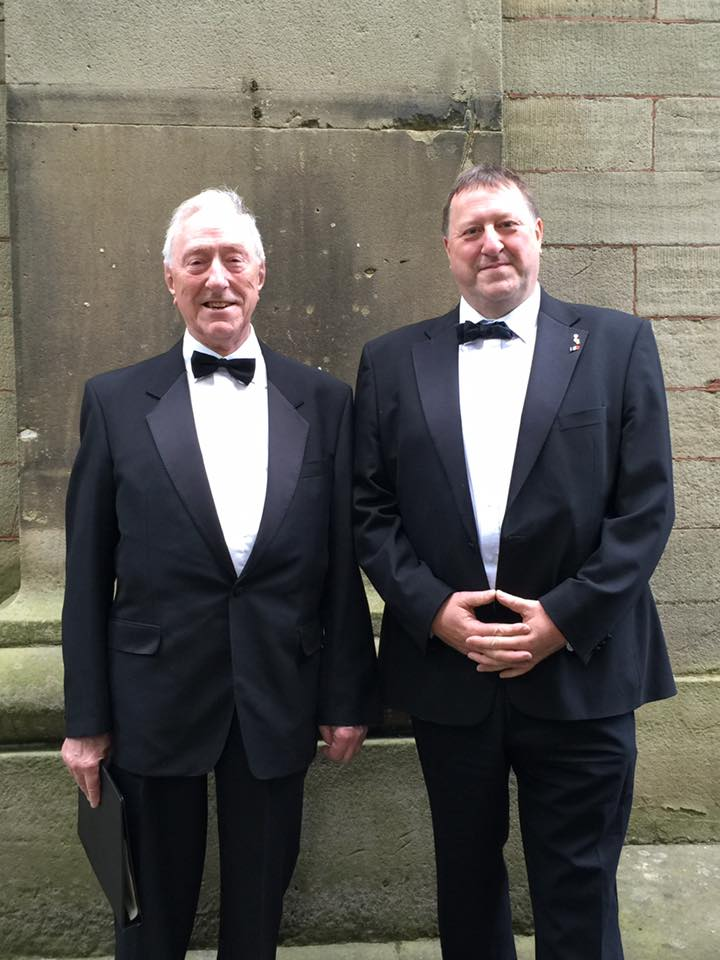 Matthew and Haydn Morgan (Basses) with the Buxton Musical Society, Buxton Derbyshire June 2016 From a fine singing tradition, with my dad